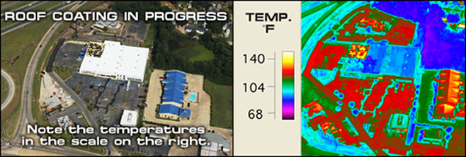 Infrared Heat Map of Roof